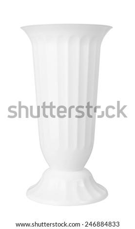 White vase isolated on a white background  - stock photo