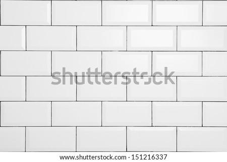 white vintage brick wall - stock photo