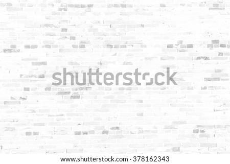 white vintage brick wall background. brick kitchen abstract office planks rustic wood globe balcony room natural veranda masonry grunge stone board job builder building cleared site seamless hallway - stock photo