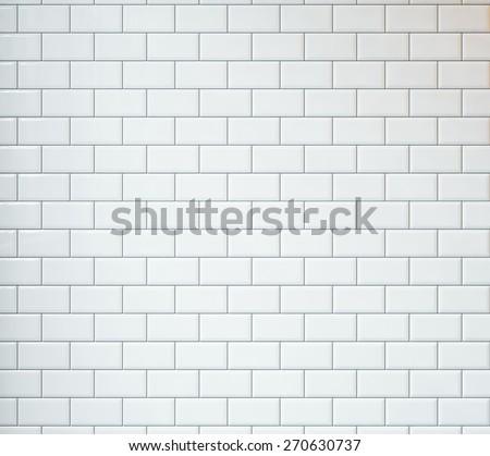 White vintage tiles background - stock photo