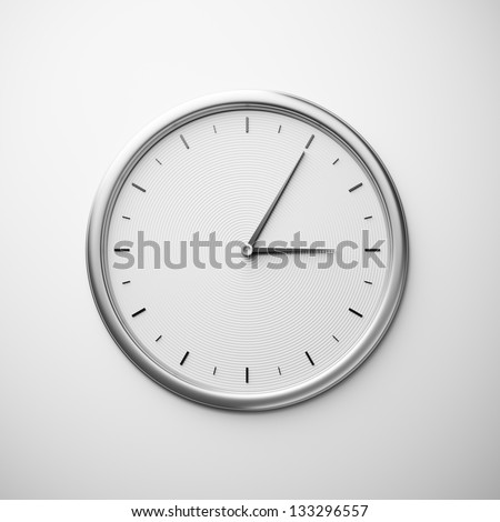 white wall clock - stock photo