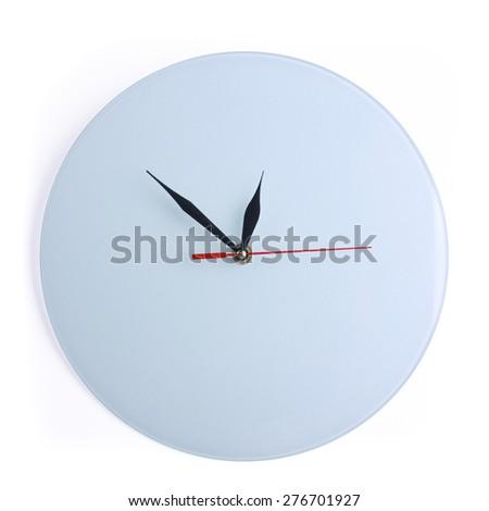 White wall clock - stock photo