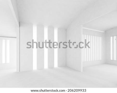 white wall,empty room,3d interior  - stock photo