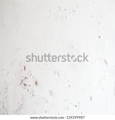 White wall grunge background - stock photo