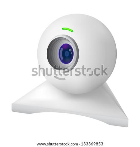 White web cam - stock photo