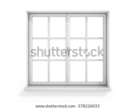 white window - stock photo
