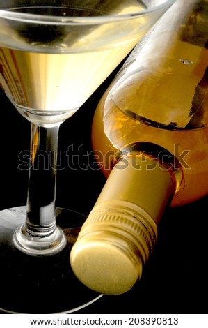 white wine for cockatil time - stock photo