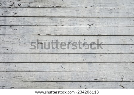 White wood plank wall texture background - stock photo