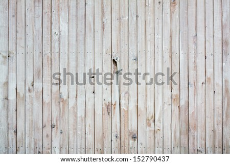 White wood planks old wall background - stock photo