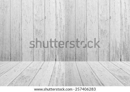white wood texture background - stock photo