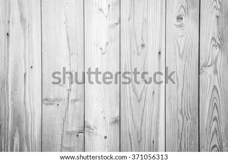 White wood wall background or texture - stock photo
