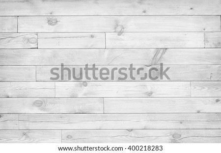 White wood wall texture as background - stock photo