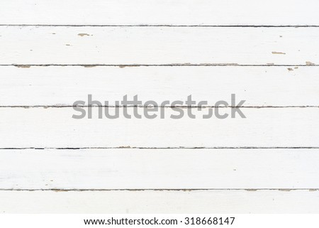 White wood wall texture background - stock photo
