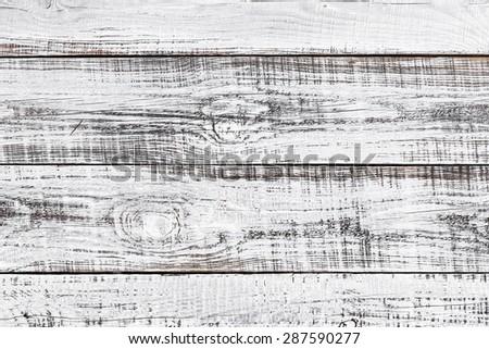 white wooden board - stock photo