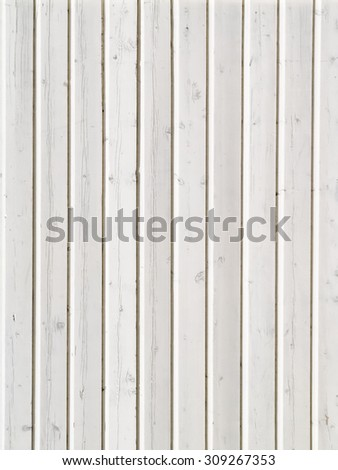 White wooden boards for texture or background - stock photo
