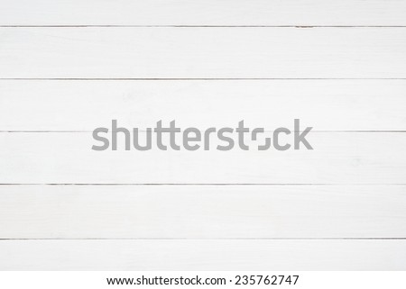 White wooden planks table - background or texture - stock photo