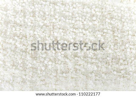 White  wool  boucle texture - stock photo