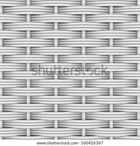White woven rattan. Decor background. The 3d render - stock photo