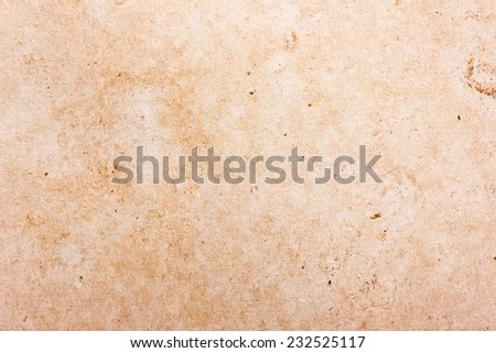 White yellow stained paper. Old retro letter texture.  - stock photo