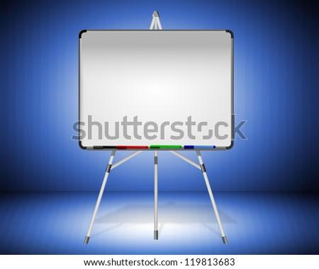 Whiteboard - stock photo