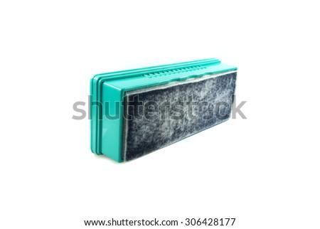 Whiteboard eraser - stock photo