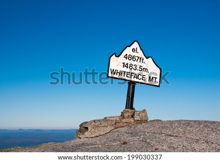 Whiteface Mountain Top - New York State - stock photo