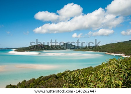Whitehaven Beach, Australia - stock photo