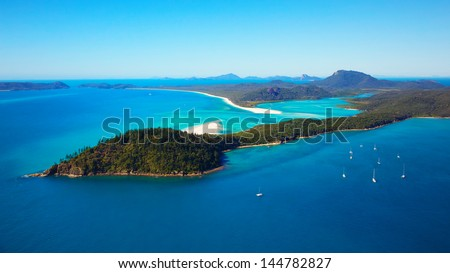 Whitehaven Beach Whitsunday Islands - stock photo