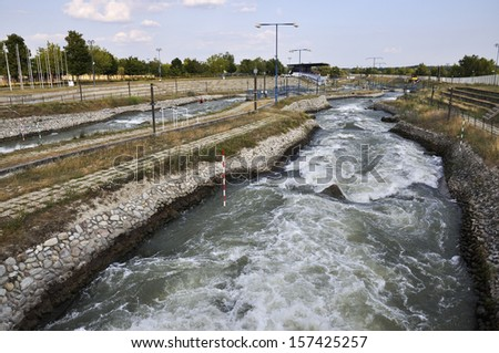 whitewater - cunovo slovakia - stock photo