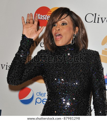 Whitney Houston at the 2011 Clive Davis pre-Grammy party at the Beverly Hilton Hotel. February 12, 2011  Beverly Hills, CA Picture: Paul Smith / Featureflash - stock photo