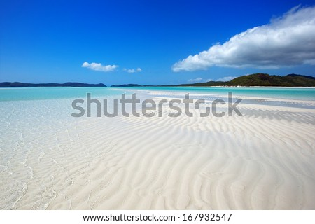 Whitsunday Island Beach - stock photo