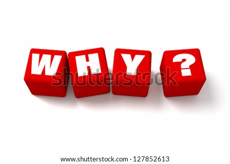 Who Red cubes. Part of a series. - stock photo