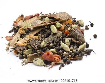 Whole garam masala - stock photo