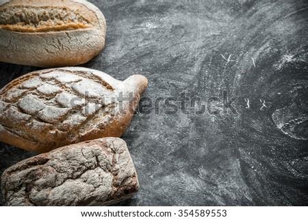 Whole grain breads - stock photo