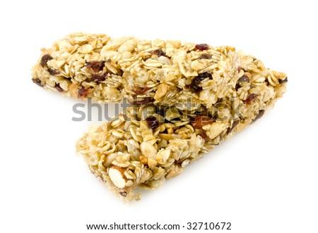 Whole grain granola chewy bar - stock photo