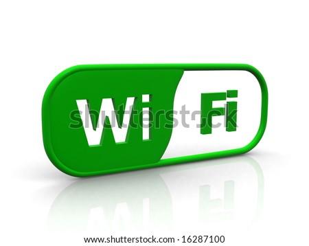 wi-fi logo - stock photo