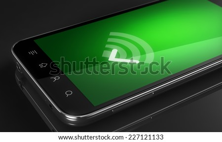 Wi-fi signal connected - stock photo