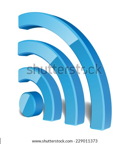 Wi Fi Wireless Network Symbol - stock photo