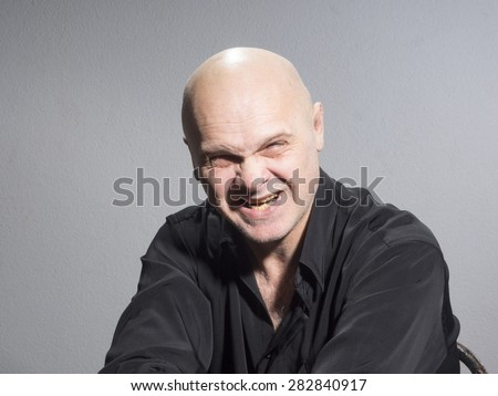 Wicked man - stock photo