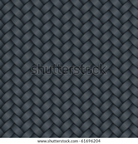 Wicker Black Carbon Background  (seamless pattern) - stock photo