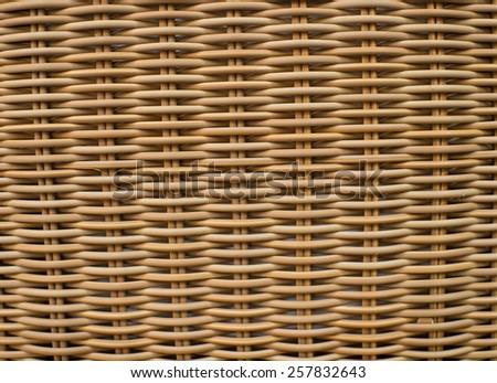 Wicker furniture light brown textured  background - stock photo