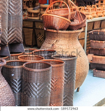 Wicker is made from bamboo and rattan - stock photo