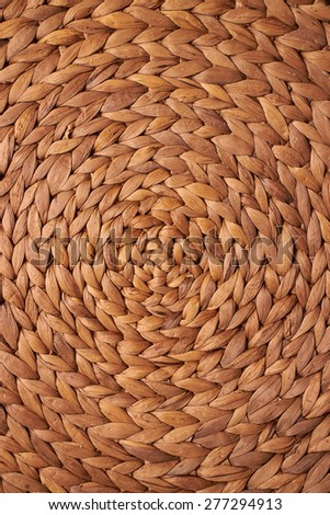 wicker mat natural background - stock photo