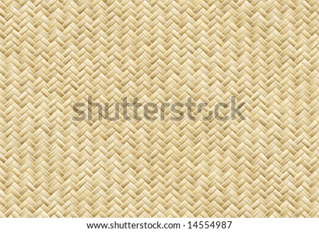 Wicker Placemat, See Also Vector In My Portfolio - stock photo