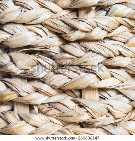 wicker texture background, traditional handicraft weave Water Hyacinth(close up) - stock photo