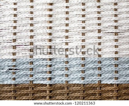 Wicker texture, white,blue and brown color - stock photo