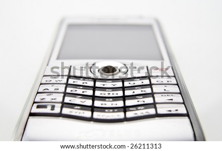 wide angle closeup of a smartphone - stock photo