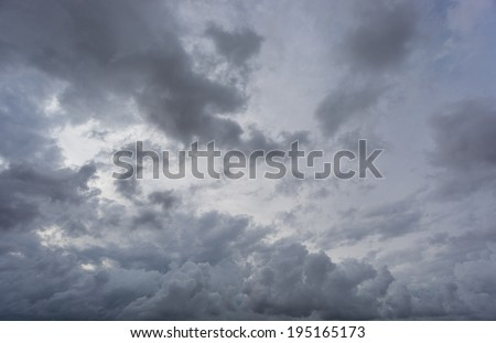 Wide angle view of cloudy sky - stock photo