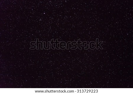Wide field image of area close to Cygnus constellation - stock photo