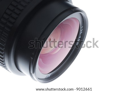 wide lens - stock photo